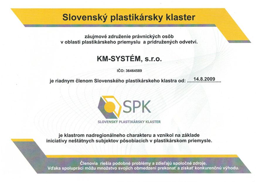 Plastikársky klaster SPK - KM-SYSTÉM